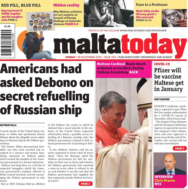 MaltaToday Frontpage